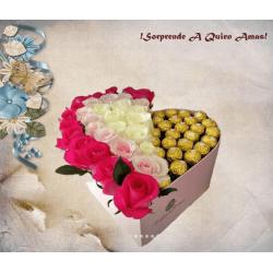 Preciosas Flores en Caja...