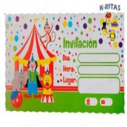 Tarjeta de Invitación Circo